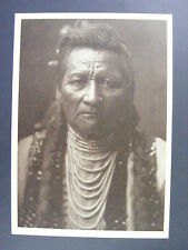 PioPio MaksMaks WallaWalla Native American Indian Black & White Curtis Postcard