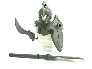 Custom ELF WARRIOR Armor/Weapons Pack (Steel) for LEGO Minifigures -LOTR Castle