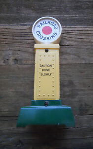 Prewar Lionel Standard Gauge 87 Railroad Crossing Signal Near Mint w/partial box