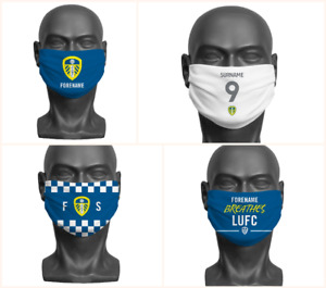 Personalised Leeds United FC Face Covering / Mask Official Adult LUFC