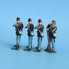 CORD-254 - Union Infantry Firing Line (4 Figures) - ACW - Tradition - 54mm Metal