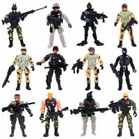 Elcoho 12 Pieces Army Toy Soldiers Action Figures Assorted Military Figures