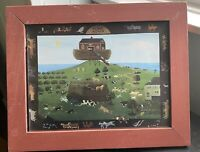 Noah's Ark Framed Print Home Again Animal Pairs New Home Rustic Framed Cottage