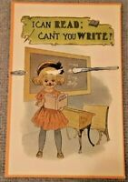Postcard cute Greeting I can read can't you write? C. 1915