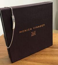Monica Vinader Havana Tiny Bar Diamond Friendship Chain Bracelet Sterling Silver