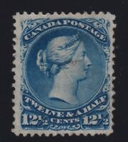 Canada Sc #28 (1868) 12&1/2c blue Large Queen Used F-VF