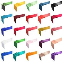 """12"""" x 108"""" Satin Table Runner Wedding Party Decorations 25+ Colors, you choose"""