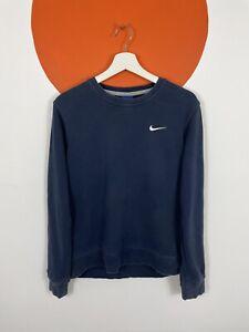 Men's Vintage Nike Crew Sweatshirt Sweater Jumper Top Navy Blue UK Size M Medium
