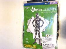 Boy Medium 8 Camouflage Green Black MORPH Halloween Costume Dress Up morphsuits