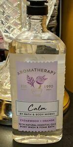 Bath & Body Works Aromatherapy Calm Cedarwood Orange Body Wash Foam Bath