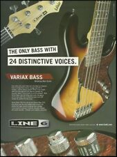 Line 6 Variax electric modeling bass guitar 8 x 11 advertisement 2005 ad print