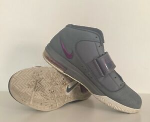 New Nike Lebron Zoom Soldier IV Cool Gray/Dark Gray-Plum Size 10.5 407707-001