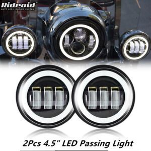 """2x 4.5"""" Inch 60W CREE LED Fog Light Passing Lamp for Harley Davidson Motorcycle"""