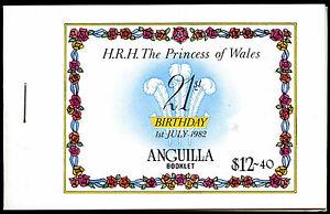 Anguilla 1982 SG#SB6 Princess Of Wales 21st Birth Stamp Booklet MNH #C37465