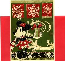 Disney Minnie Mouse & Christmas Gift Present Christmas Cards - Set of 3