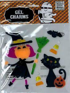 Halloween Fall window gel clings stickers assorted Gel Charms 4 packs