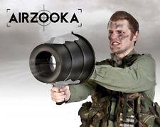 Black AirZooka Bazooka Blaster Fun Gun Game Air Zooka Silver Kids Toy Cannon