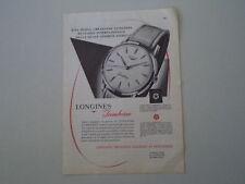 advertising Pubblicità 1959 OROLOGIO LONGINES JAMBOREE