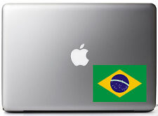 "Brazil Country Pride Flag Full Color - Vinyl Decal for 13"" Macbook"