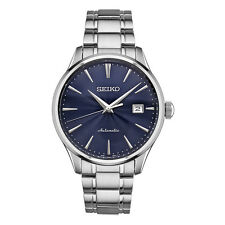 New Seiko Automatic Stainless Steel Blue Dial Men's Watch SRPA29