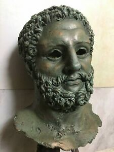 Buste d'Hercule patine bronze antique