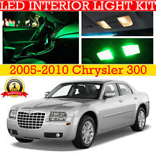 Fits 2005-2010 Chrysler 300 GREEN Interior LED Light Package Replacement Kit 12x