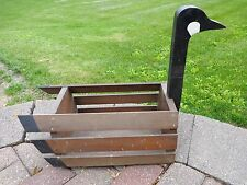"Canadian Goose Planter Decorative Box Wood Large 20"" Yard Patio Home Decor"