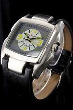 Jay Baxter Herrenuhr Ziffernblatt Grau Weiß Armbanduhr Echt Leder PJB271