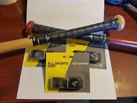 "3 Black Easton Cushion Bat Grips 1.6 mm ""All Sport Grip"" Baseball, Softball Golf"