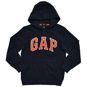 Gap Boys Kids Hoodie Jacket Sweatshirt Fleece Lined Full Zip Coat Arch Logo New