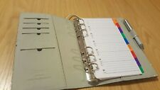 Filofax Domino A5 organiser with inserts & working Pen, Black