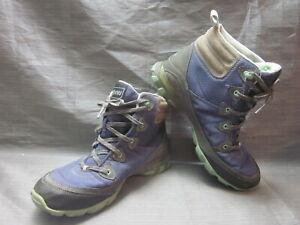 Ahnu by Teva Montara II Waterproof Purple & Blue Hiking Shoes Women's Size 8