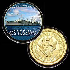 U.S. United States Navy | USS Yosemite AD-19 | Gold Plated Challenge Coin