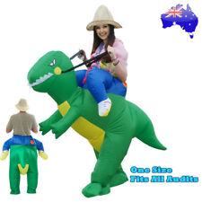 Inflatable Dinosaur Costume Jurassic World Park Trex T-Rex Party Fancy Dress AU