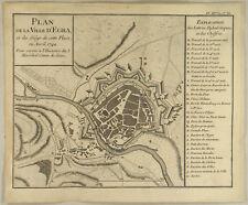 Stadt EGRA  Landkarte Kupferstich Erbfolgekrieg 1742 Eger Tschechien BÖHMEN Cheb