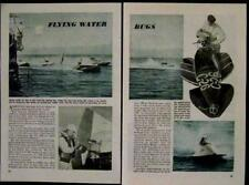 1946 Hydroplane Racing original vintage Pictorial