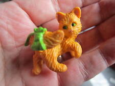 Kitty in My Pocket toy figures ginger cat kitten green bow Collectors