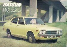 DATSUN NISSAN VIOLET 140j Saloon 1973-1974 UK Opuscolo Vendite sul Mercato PIEGA
