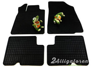 4 x Gummi-Fußmatten ☔ für DACIA Duster 2010- / Logan 2008- / Sandero 2008-2013