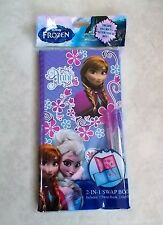 DISNEY FROZEN ELSA & ANNA JOURNAL DIARY 2 IN 1 SWAP BOOK WITH 2 GEL PENS - NEW