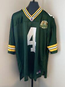 Brett Favre #4 50th Anniv. Lambeau Field Green Bay Packers Reebok Jersey Size XL