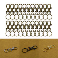 Keychain Lobster Swivel Clasp Lanyard Clips Snap Hooks For Keyring Key Ring 20pc