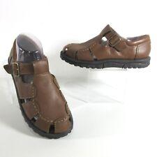 TEVA Womens 7 M Crete Brown Smooth Leather Fisherman Trail Walking Sandals 6313