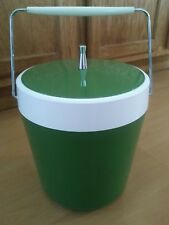 West Bend Avocado Green Mid Century Ice Bucket w/ Handle Vintage