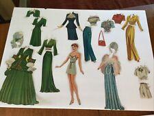 Original Vintage 1944 Lucille Ball Paper Dolls cut