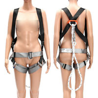 Fall Protection Kit Full Body Harness w/ Shock-absorbing Safey Lanyard @