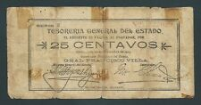 F.C. MEJICO MEXICO , TESORERIA GENERAL , 25 CENTAVOS 1913 , B/C (FINE) , P.S551
