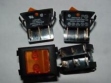 15 Flecha Doble Polo 10a Rocker Switch aislados 125 V Naranja Neón 2000xa11e