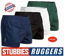 4 PACK - GENUINE STUBBIES RUGGERS ELASTIC WAIST DRILL MENS WORK SHORTS - SE2060
