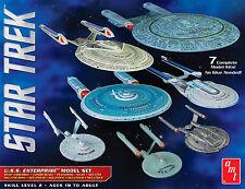 AMT 1/2500 Star Trek U.S.S. Enterprise 7 Piece NX-01 To NCC-1701E model kits 954